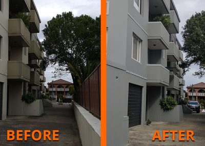 Rainbow Court Before and After 2